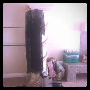 Knitted size 14 formal gown with slip underlay